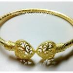 BGH-00005 กำไลข้อมือทองเหลือง (หัวใจฉลุลาย)