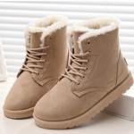 (Pre Order) บู๊ทส์หิมะผู้หญิง รองเท้าแฟชั่นขนสัตว์ที่อบอุ่นรองเท้าฤดูหนาวผู้หญิงส้นแบนลำลอง มี 5 สีให้เลือก ไซส์ 35,36,37,38,39,40