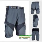 กางเกงขาสั้น ARSUXEO เนื้อผ้าแห้งเร็ว /สีเทาแถบดำ