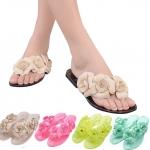 (Pre Order) รองเท้าแตะผู้หญิงหวานด้วยดอกไม้ที่สวยงาม Camellia พลิก Flops มี 5 สีให้เลือก ไซส์ 36-40