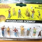 โมเดลชุดนักกอล์ฟ 7 ชิ้น สเกล 1:87 (Woodland)