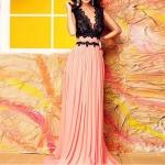 (Pre Order) ในช่วงฤดูร้อนผู้หญิงระยะเวลาในชั้นน่ารักเซ็กซี่ vestidos ผู้หญิงสีดำลูกไม้สีชมพูเย็บปะติดปะต่อกันลึกโวคอแขนกุดเอวจีบชุดยาว สินค้ามีสีเดียว ขนาดสินค้า S,M,L,XL