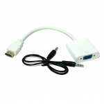 HDMI to VGA+Audio สีขาว