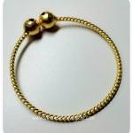 BGH-00008 กำไลข้อมือทองเหลือง (กระดิ่งเกลียว)
