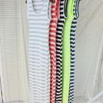 (Pre Order) ชุดเดรสเนื้อผ้าฝ้ายแขนเสื้อกั๊ก ชุดลายทาง น่ารัก มี 5 สีให้เลือก ขนาดสินค้า Free Size