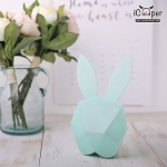 Bunny Music Clock (Green)