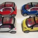 Model Car สเกล 1:87 ชุด 4 คัน (Smart ForTwo)