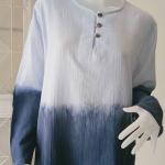 เสื้อแขนยาวคอจีนใส่ได้ทั้งหญิงและชาย Size: 46 TCN1-5