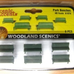 ม้านั่งยาว สเกล 1:87 ชุด 6 ตัว (Woodland)
