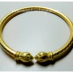 BGH-00007 กำไลข้อมือทองเหลือง (ดอกบัว)