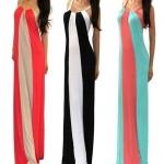(Pre Order) ชุดเดรสยาวฤดูใบไม้ผลิฤดูร้อนลายยาว ชุด Maxi Dress มี 3 สีให้เลือก ขนาดไซส์ S,M,L