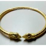 BGH-00012 กำไลข้อมือทองเหลือง (ดอกบัว)