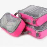 กระเป๋าใส่เสื้อผ้า SIZE M สีชมพู