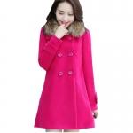 (Pre Order) เสื้อกันหนาวผู้หญิงในฤดูใบไม้ร่วงฤดูหนาวขนสัตว์ปกเสื้อแจ็คเก็ต แฟชั่นใหม่วินเทจสีชมพูสีดำสีแดงสีเขียวสีเหลืองหวาน มี 5 สีให้เลือก ขนาดสินค้า S-XL
