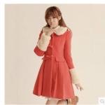 (Pre Order) ส่งผู้หญิงฤดูหนาว/ฤดูใบไม้ร่วงเดี่ยวกระดุมเสื้อเลดี้แบรนด์ที่มีชื่อเสียงส่วนยาวเสื้อผ้าทนกว่าr oupas femininas 2 สินค้ามีสีเดียว ขนาดสินค้า M,L