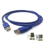 สาย USB 3.0V พร้อมกับหัวต่อ riser USB