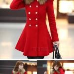 (Pre Order) เสื้อแจ็คเก็ตขนสัตว์ฤดูหนาวยาวเสื้อคลุมเสื้อแจ๊กเก็ตที่มีคุณภาพดี มี 5 สี แดง,ดำ,น้ำเงิน,ครีม,ส้ม ไซส์ M,L,XL