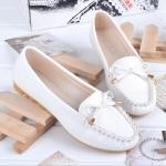 (Pre Order) รองเท้าส้นแบนหนังแท้แบนหญิง รองเท้าหนังนิ่มใส่สบาย มี 4 สีให้เลือก ไซส์ 35-40