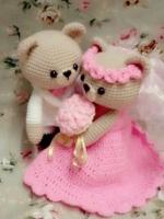 ตุ๊กตาหมีแต่งงาน: สั่งทำไม่มีพร้อมส่ง 12 นิ้ว