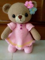 ตุ๊กตาหมีชุดชมพู12 นิ้ว :สั่งทำพร้อมส่ง