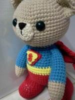 ตุ๊กตาหมีซุปเปอร์แมน 12 นิ้ว :สั่งทำพร้อมส่ง