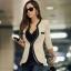 (Pre Order) คอวีเสื้อแจ๊กเก็ตสูทสุภาพสตรี เสื้อในฤดูใบไม้ร่วง / ฤดูใบไม้ผลิลำลองเสื้อแจ็คเก็ตหญิง มี 2 สี ดำ,ขาว ไซส์ S,M,XL thumbnail 2