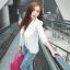 (Pre Order) มาใหม่ล่าสุดเสื้อผู้หญิงแขนยาวเสื้อสูทเซ็กซี่ลูกไม้โครเชต์แจ็คเก็ตขนาดเล็ก Tops สำนักงานสวมใส่สบาย มี 2 สี ดำ,ขาว ไซส์ M,L,XL thumbnail 14