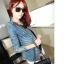 (Pre Order) เสื้อยีนส์แขนยาว แบบเก๋มาก Rhinestone ซิปพังก์หญิงเสื้อแจ็คเก็ตผู้หญิง มีสีเดียว ไซส์ S,M,L thumbnail 5