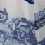(Pre Order) เดรสยาวสไตล์ฤดูร้อนสร้างสรรค์ตัวเสื้อยืดชุดสีน้ำเงินและสีขาวพอร์ซเลนยาวเดรสชีฟอง Maxi ไซส์ M,L,XL,XXL thumbnail 5
