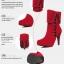 (Pre Order) บูท ฤดูใบไม้ร่วงฤดูหนาว Botas ส้นสูงแพลตฟอร์มหนัง รองเท้าหญิง มี2 สี ดำ,แดง ไซส์ 35,36,37,38,39,40,41,42 thumbnail 7