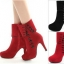 (Pre Order) บูท ฤดูใบไม้ร่วงฤดูหนาว Botas ส้นสูงแพลตฟอร์มหนัง รองเท้าหญิง มี2 สี ดำ,แดง ไซส์ 35,36,37,38,39,40,41,42 thumbnail 1