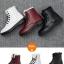 (Pre Order) ฤดูใบไม้ร่วงและฤดูหนาวสไตล์อังกฤษรองเท้าผู้หญิงรองเท้าส้นแบนหญิงใส่ลุยหิมะได้พื้นรองเท้าหนา มี 3 สี ขาว,แดง,ดำ ไซส์ 35,36,37,38,39,40 thumbnail 20