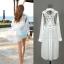 (Pre Order) เสื้อคุมขนาดสินค้า -มีขนาดเดียว วัสดุ: ชีฟอง / ลูกไม้ สี: สีขาว thumbnail 1