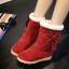 (Pre Order) รองเท้าบูทกันหนาวผู้หญิงบุขนด้านใน ตกแต่งด้วยโบว์น่ารักมาก มี 3 สี ดำ,แดง,เทา,ไซส์ 35,36,37,38,39 thumbnail 1