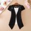 (Pre Order) เสื้อคุมเกาหลีแขนสั้นเนื้อผ้าฝ้าย มี 7 สี ชมพู,ดำ,เหลือง,ฟ้า,ขาว,ส้ม ขนาด - Free Size thumbnail 2