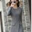 (Pre Order) เสื้อคุมผู้หญิงมาใหม่ซิปหน้าแฟชั่นผสมขนสัตว์เสื้อยาว มี 2 สี ดำ,เทา ไซส์ S,M,L,XL,XXL thumbnail 3