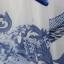 (Pre Order) เดรสยาวสไตล์ฤดูร้อนสร้างสรรค์ตัวเสื้อยืดชุดสีน้ำเงินและสีขาวพอร์ซเลนยาวเดรสชีฟอง Maxi ไซส์ M,L,XL,XXL thumbnail 4