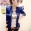 (Pre Order) ผู้หญิงเลดี้แฟชั่นปกโลหะเสื้อแจ็คเก็ตสูทมี 5 สีฟ้า,สีขาว,สีเหลือง,สีแดง,สีดำ,ไซส์ S,M thumbnail 5