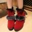 (Pre Order) รองเท้าบูทฤดูหนาวสั้นบุข้นหนา Botas ขนสัตว์อบอุ่นหิมะรองเท้าที่มีคุณภาพดี มี 2 สี แดง,ดำ ไซส์ 36,37,38,39,40 thumbnail 1