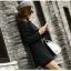 (Pre Order) เสื้อคุมผู้หญิงมาใหม่ซิปหน้าแฟชั่นผสมขนสัตว์เสื้อยาว มี 2 สี ดำ,เทา ไซส์ S,M,L,XL,XXL thumbnail 7