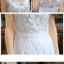 (Pre Order) ชุดเดรสยาว ฤดูร้อนสไตล์เกาหลีโบฮีเมียนสีขาวลูกไม้เดรสชีฟองกลวงออกชายหาด มี 2 สี ดำ,ขาว มีไซส์ S-XL thumbnail 3