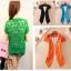(Pre Order) เสื้อคุมเกาหลีแขนสั้นเนื้อผ้าฝ้าย มี 7 สี ชมพู,ดำ,เหลือง,ฟ้า,ขาว,ส้ม ขนาด - Free Size thumbnail 8