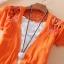 (Pre Order) เสื้อคุมเกาหลีแขนสั้นเนื้อผ้าฝ้าย มี 7 สี ชมพู,ดำ,เหลือง,ฟ้า,ขาว,ส้ม ขนาด - Free Size thumbnail 7