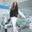 (Pre Order) มาใหม่ล่าสุดเสื้อผู้หญิงแขนยาวเสื้อสูทเซ็กซี่ลูกไม้โครเชต์แจ็คเก็ตขนาดเล็ก Tops สำนักงานสวมใส่สบาย มี 2 สี ดำ,ขาว ไซส์ M,L,XL thumbnail 7