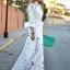 (Pre Order) ผู้หญิงเซ็กซี่ฤดูร้อน Boho ยาว Maxi ชุดเดรสชุดบีชชีฟอง มีสีเดียว ขนาดสินค้า S,M,L,XL thumbnail 2