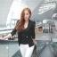 (Pre Order) มาใหม่ล่าสุดเสื้อผู้หญิงแขนยาวเสื้อสูทเซ็กซี่ลูกไม้โครเชต์แจ็คเก็ตขนาดเล็ก Tops สำนักงานสวมใส่สบาย มี 2 สี ดำ,ขาว ไซส์ M,L,XL thumbnail 4