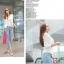 (Pre Order) มาใหม่ล่าสุดเสื้อผู้หญิงแขนยาวเสื้อสูทเซ็กซี่ลูกไม้โครเชต์แจ็คเก็ตขนาดเล็ก Tops สำนักงานสวมใส่สบาย มี 2 สี ดำ,ขาว ไซส์ M,L,XL thumbnail 13