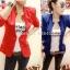 (Pre Order) ผู้หญิงเลดี้แฟชั่นปกโลหะเสื้อแจ็คเก็ตสูทมี 5 สีฟ้า,สีขาว,สีเหลือง,สีแดง,สีดำ,ไซส์ S,M thumbnail 1