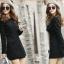 (Pre Order) เสื้อคุมผู้หญิงมาใหม่ซิปหน้าแฟชั่นผสมขนสัตว์เสื้อยาว มี 2 สี ดำ,เทา ไซส์ S,M,L,XL,XXL thumbnail 4