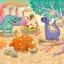 จิ๊กซอว์ 40ชิ้น พร้อมถาดรอง ลายทั่วไป วิว หมาแมว เรือ ทะเล ภูเขา Jigsaw Puzzle thumbnail 2